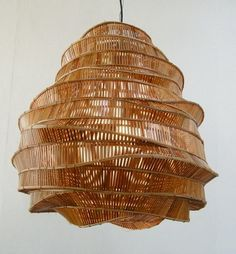 "blueberrymodern: Bamboo Hanging Lamp --- these hanging lights will be placed in the lounge area to further create a slight ""Bee"" enhancement to the title theme ""BEE YOUR OWN SUCCESS STORY"""