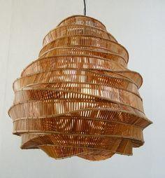 blueberrymodern:  Bamboo Hanging Lamp