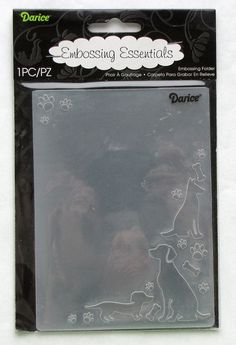 Darice Dogs and Paws Corner A2 Embossing Folder by catSCRAPPIN, $3.50