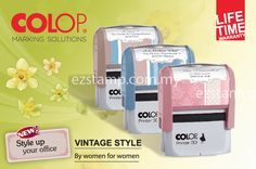 "New Printer ""Special Edition"" by COLOP in Vintage style – by women for women The new ""Special Edition"" version of COLOP's best-selling Printer Standard is something truly exceptional for 2013 – it is the first product to be made by women, for women."