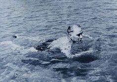 Ataturk swimming at Florya Republic Of Turkey, Turkish Army, The Turk, Ulsan, Great Leaders, My Hero, Whale, Swimming, Black And White