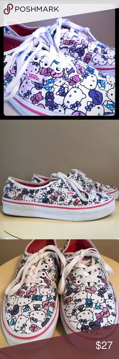 f3cb704cac Hello Kitty Vans These shoes were worn once because they were too ...