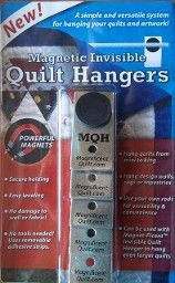 A great way to hang a quilt without power tools. Magnetic invisible quilt hangers.