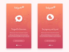 Animated onboarding screens for Babynote App by Diana Wieczorek for HYPE4