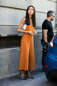 orange culotte jumpsuit