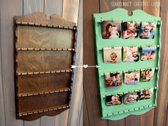 Upcycle  spoon rack  into picture hanger, by SohoSonnet. Other possible conversions: jewellery or hair accessory hanger