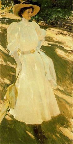 María en la Granja. 1907. Lienzo, 170 x 85 cm. San Diego Museum of Art. San Diego. California. USA. Obra de Joaquín Sorolla