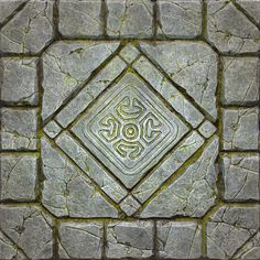 zbrusj_tile by Black Smith on ArtStation. Dungeon Tiles, Dungeon Maps, Texture Mapping, 3d Texture, Stone Floor Texture, Map Symbols, Game Textures, Dark Artwork, Hand Painted Textures