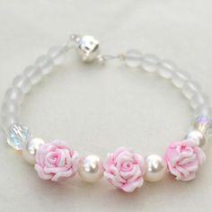 Bridesmaid Bracelet - Pretty Pink Roses, £9 from Mrs Jones Handmade Jewellery on Folksy