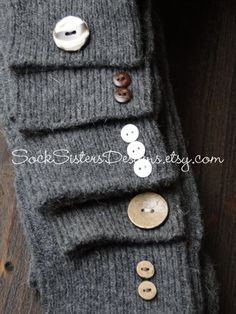 Knee High Boot Socks  Boot Socks with Button by SockSistersDesigns, $13.50