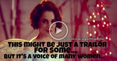 This might be just a trailor for some. But it's a voice of many women, who go through something similar in their life. This woman here talks sense. She is speaking on the behalf of many woman who are being judged by just the way they dress up. Watch her speak about her life, her choices.