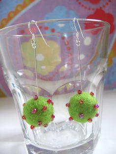 Apple Green Earrings
