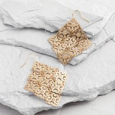 One of my favorite discoveries at WorldMarket.com: Gold  Diamond Drop Earrings
