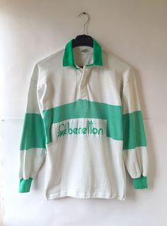 6979a7d4914 benetton rugby shirt vintage casuals 80's. made in italy size s from $1.47