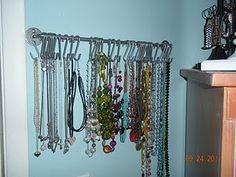 Pot Rack Necklace Storage