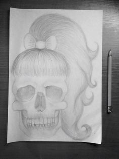 Art  skull  skeleton  Black and white