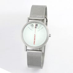 """Live in the present. This unique timepiece beautifully reminds you that """"there's no time like the present."""""""