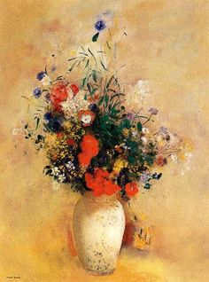 Flowers in a Chinese Vase  Odilon Redon