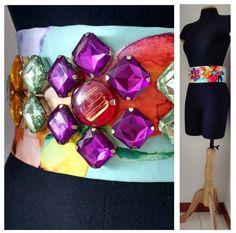 Cinturón bordado para vestido de fiesta