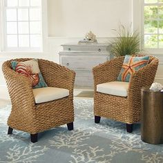 seville seagrass chairs