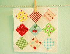 Cute Quilt Block!...lovin the Sew Cherry in the middle:)
