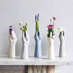 Porcelain Flower Vase – It is a single porcelain stem or bloom flower hand vase. It makes a unique gift for a home, Wedding Anniversary, for mothers or friends. This delicately hand crafted hand v 9th Wedding Anniversary, Wedding Aniversary, Decoration Plante, Hand Flowers, House Gifts, Decoration Inspiration, Decor Ideas, Flower Vases, Flower Pots