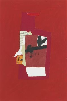 Robert Motherwell (American, 1915–1991) Redness of Red, 1984–1985 Screenprint and lithograph in colors with collage on Arches Cover paper