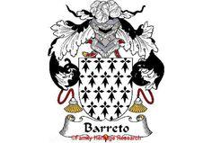 Barreto Spanish Coat of Arms Print Family Crest Barreto