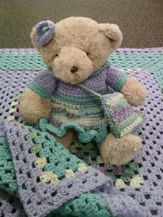 Baby Blanket with Matching Bear Outfit