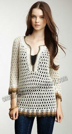 reino ganchillo (EH): muy simple túnica de ganchillo!