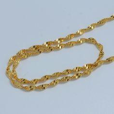45 cm/50 cm/60 cm Etíope oro cadena collares de las mujeres de oro chapado en cadena de la mujer, moda joyas de oro al por mayor del collar de áfrica