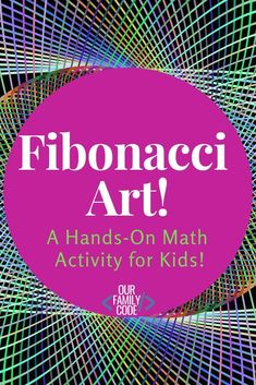 Teach the Fibonacci Sequence with this Easy Math & Art Activity! This math and art activity presents this would-be complex mathematical concept in an easy to understand, tangible way with Fibonacci art! Math Activities For Kids, Steam Activities, Math For Kids, Fun Math, Teaching Kids, High School Activities, Maths, Simple Math, Basic Math