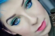 Makeup, makeupart, makeupartist, makijaż, makijaż artystyczny Green With Blue, Blue Makeup, Body Art, Face, Artist, How To Make, Beauty, Jewelry, Jewlery