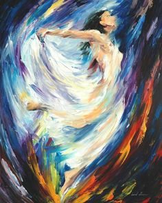 ANGEL OF LOVE — Palette knife Oil Painting on Canvas by Leonid Afremov - Size discount coupon - on Wanelo Figure Painting, Oil Painting On Canvas, Painting Art, Painting Clouds, Painting Trees, Painting People, Painting Flowers, Canvas Art, Afrique Art