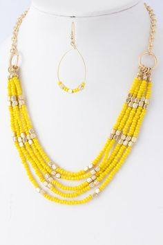 Sunny Katelyn Necklace Set - I like the idea of the chain in the back so as not to waste beads...