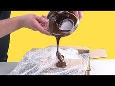 Pon chocolate sobre plástico de burbujas: el resultado es único - YouTube