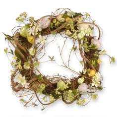National Tree Company 18-inch Floral Vine Easter Wreath with Eggs and Berries