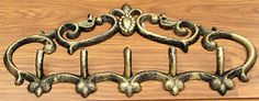 FLEUR DE LIS Cast Iron Wall Mounted Hat HOOK Coat Rack Hooks Wall Hanger New