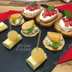 You searched for Canapes - Divina Cocina Great Appetizers, Appetizer Recipes, Canapes Faciles, Queso Feta, Colombian Food, Yogurt Recipes, Catering, Good Food, Food And Drink