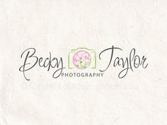 Premade Photography logo design and photography logo Watermark. Camera logo and floral logo.