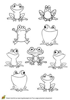 Frogs to draw