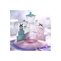 Blushing Bride Deluxe Honeycomb Centerpiece 13in