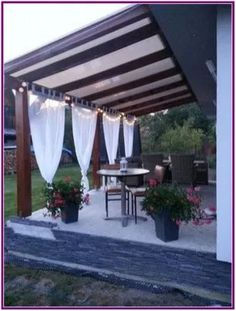 The pergola kits are the easiest and quickest way to build a garden pergola. There are lots of do it yourself pergola kits available to you so that anyone could easily put them together to construct a new structure at their backyard. Backyard Patio Designs, Pergola Patio, Front Yard Landscaping, Pavers Patio, Patio Stone, Patio Plants, Concrete Patio, Patio Ideas, Landscaping Ideas