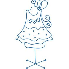 robe Cross Stitch Embroidery, Embroidery Patterns, Hand Embroidery, Stitch Patterns, Motif Vintage, Sweetheart Dress, Baby Scrapbook, Digi Stamps, Applique Designs