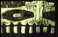 Death quilt or Graveyard quilt, detail. University of Louisville KY. University Of Louisville, Halloween Quilts, Momento Mori, Mourning Jewelry, Danse Macabre, Traditional Quilts, Antique Quilts, Cemetery, Art Forms