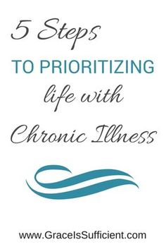 http://www.graceissufficient.com/5-tips-to-prioritizing-life/  We tend to live our lives like they're Mary Poppin's bottomless bag with unlimited space.  Those with great health even have limited purse space. But those of us with chronic illnesses must be more intentional about what our bag looks like.