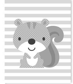 Woodland Nursery Art Squirrel Baby Room Decor Forest Nursery Print Gender Neutral Baby Room Art Print Child's Room Decor Squirrel Canvas by SweetPeaNurseryArt on Etsy Baby Girl Room Decor, Baby Room Art, Kids Room Art, Boys Room Decor, Boy Room, Art Kids, Baby Decor, Child's Room, Elephant Canvas Art