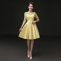 Kleid A-Linie - Juwel-Ausschnitt - mini/knielang - EUR € 119.99