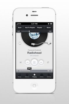 User interface design for the upcoming music player app.    Would like to know your thoughts on the design. Thanks.