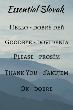 How to say in Slovak Language
